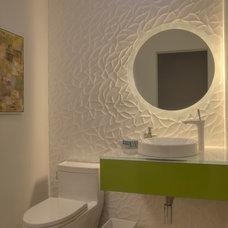 Contemporary Powder Room by Mark Nichols Modern Interiors