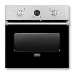 "Viking 30"" Single Electric Wall Oven, Black | VESO5302BK - 4.7 CU FT SELF CLEAN OVEN"