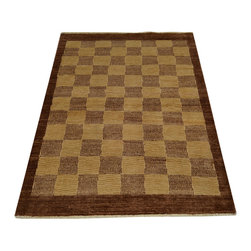 1800GetARug - Checkerboard Design 100% Wool Peshawar Gabbeh Hand Knotted Rug Sh14696 - Our Modern & Contemporary collection contains some of the latest designs in the industry. The range includes geometric, transitional, abstract, and modern designs; from the Tibetans to the Gabbeh. We offer an entire line of contemporary designs, whether you're searching for sophisticated and muted to the vibrant and bold.