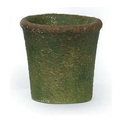 Textured Green Pot, Small - Handcrafted clay pottery