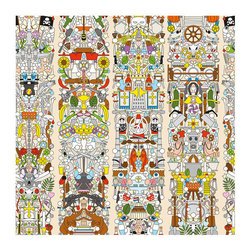 NLXL - NLXL Studio Job Archives Wallpaper Alt Deutsch - The Archives collection reflects a retrospect of the history of Studio Job. They used archetypical drawings and these universal symbols are combined as iconographic elements for patterns and compositions, ultimately creating 6 designs.