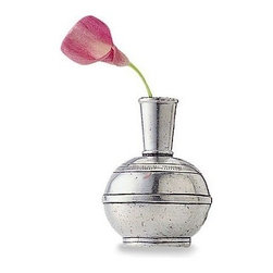 "Match Pewter - Bud Vase by Match Pewter - Using methods that predate the Renaissance, Match artisans fashion pewter into functional objects of warmth and beauty.4.4"" high"