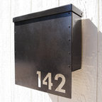Address Plaques - Custom House Number Mailbox No. 1310 Drop Front in Aluminum
