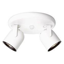 Progress Lighting - Progress Lighting White 2-light Spotlight Fixture P6148-30WB - Shop for Lighting & Fans at The Home Depot. Metal cylinder style light with integral swivel to provide accent or task lighting. Install as a ceiling or wall mount fixture.