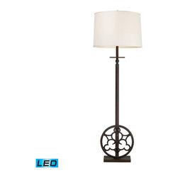 Dimond Lighting - Dimond Lighting Ironton Vintage Rust Floor Lamp - LED Offering Up To 800 Lumens - Vintage Rust Floor Lamp - LED Offering Up To 800 Lumens belongs to Ironton Collection by Dimond Lighting Lamp (1)