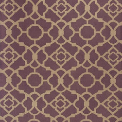 Kas - Contemporary Natura 8'x10' Rectangle Purple Area Rug - The Natura area rug Collection offers an affordable assortment of Contemporary stylings. Natura features a blend of natural Purple color. Handmade of 100% Jute the Natura Collection is an intriguing compliment to any decor.