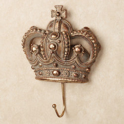 Coronet Sovereign Crown Wall Hook - Hang your favorite trench coat (upturned collar, naturally) on this crown hook.