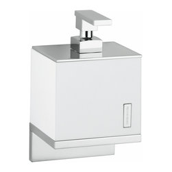 "Modo Bath - Demetra 1933 Wall Mounted Soap Dispenser - Demetria 1933 Wall Mounted Soap Dispenser, 4.7"" W x 3.5"" D x 7.9"" H, in Vetro Freddo / Polished Chrome"