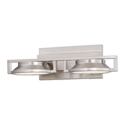 George Kovacs - George Kovacs P1102-084-L Loupe LED Brushed Nickel Bathroom Vanity Wall Sconce - Brushed Nickel Finish