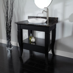 "30"" Milano Console Vanity for Semi-Recessed Sink - Sweeping legs and a handsome stone countertop and backsplash make the 30"" Milano Console Vanity an outstanding addition to your bath decor."