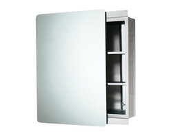 Gedy - Stainless Steel Cabinet with Sliding Mirror Door - Complete your luxury personal bathroom with this high-quality medicine cabinet from Gedy.