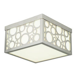 Livex Lighting - Brushed Nickel Avalon 2 Light Flush Mount Ceiling Fixture - Lamping Technology: