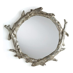Arteriors Oakley Mirror - Some mirrors, like this Oakley piece, simply demand that you look at them. With this mirror in your half bath, guests will be so amazed by the art that they'll forget to check their lipstick.