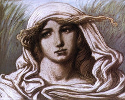 """Elihu Vedder Head of a Young Woman - 16"""" x 24"""" Premium Archival Print - 16"""" x 24"""" Elihu Vedder Head of a Young Woman premium archival print reproduced to meet museum quality standards. Our museum quality archival prints are produced using high-precision print technology for a more accurate reproduction printed on high quality, heavyweight matte presentation paper with fade-resistant, archival inks. Our progressive business model allows us to offer works of art to you at the best wholesale pricing, significantly less than art gallery prices, affordable to all. This line of artwork is produced with extra white border space (if you choose to have it framed, for your framer to work with to frame properly or utilize a larger mat and/or frame).  We present a comprehensive collection of exceptional art reproductions byElihu Vedder."""