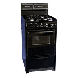 """Brown - 20"""" Natural Gas Range with Electronic Ignition, Oven Window and Light - Features:"""