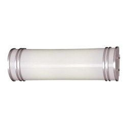 Minka Lavery - Minka Lavery 663-PL 2 Light Bath in Silver with White Acrylic 663-PL - 120V LVS Electronic G24q-1 Triple Tube (Bulb Not Included)Bulb Included: No Bulb Type: Fluorescent Energy Star Compliant: Yes Extension: 4-1 4 Finish: Silver Glass Shade: White Acrylic Height: 5-3 4 Light Direction: Ambient Lighting Number of Lights: 2 Style: Transitional Suggested Room Fit: Bathroom UL Listed: Damp Location Wattage: 18 Weight: 4.11 Width: 18-1 2