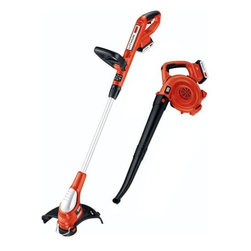 BLACK & DECKER LAWN - TRIMMER/SWEEPER COMBO KIT 20V - Sweeper is lightweight, powerful and easily clear debris from hard surfaces like patios, decks, walks, drives and garages. 2 tool in one; trimmer easily converts to edger to cut along sidewalks and driveways for a clean, manicured look. Smart charger char  ges each Li-Ion 20V max battery in about 8 hours. String trimmer features and exclusive gear drive transmission to deliver more cutting power to get the job done faster. Two 20V Max Lithium Ion batteries included. Weighs 12.7 lbs.            This item cannot be shipped to APO/FPO addresses.  Please accept our apologies