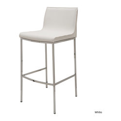Colter Bar Stool, White, Set of 2