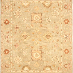 Safavieh - Safavieh Anatolia AN556K, Beige, 8'x10' Rug - Anatolia Collection brings old world sophistication and quality in new tufted rugs. This collection captures the authentic look and feel of the decorative rugs made in the late 19th century in this region. Hand spun wool and an ancient pot dying technique together with a densely woven thick pile, gives Anatolia rugs their authentic finish.