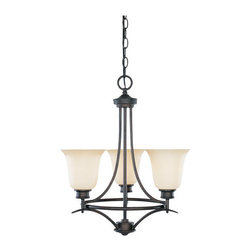 Designers Fountain - Designers Fountain 96983 Three Light Up Lighting Mini Chandelier from the Monteg - Features: