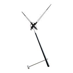 Nomon - Puntero L Black Clock - Puntero L Black Clock in Steel and Lacquered Walnut, Made in Spain