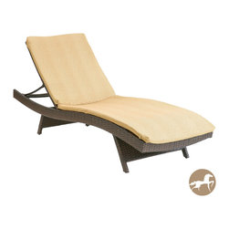 None - Christopher Knight Home Tan Lounge Chair Cushions - This creamy tan comfortable outdoor chaise lounge cushion makes relaxing on the patio a luxurious event. The solid patterned cushion is made of weather-resistant polyester and fits on most standard lounge chairs.