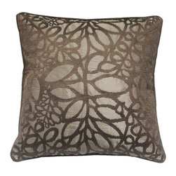 None - EDIE Taupe 20-inch Decorative Pillow - Throw this taupe decorative pillow anywhere in your home for an added charm. Made with 100-polyester,this pillow is stylish and elegant.