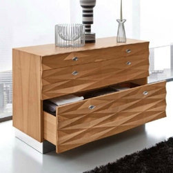 Italydesign Studios - Veneto Dresser - The Veneto dresser is meticulously hand crafted in Italy using natural walnut, leather and stainless steel to create a perfect balance between the warmth of natural wood and architectural styling.