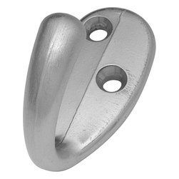 """Hickory Hardware - Utility Satin Silver Cloud Hook, 2"""" - Functionalism is the principal that design is based on the purpose of that piece. Hinges, hooks, catches, drawer slides and screws. All designed for a specific purpose and necessary in every home."""