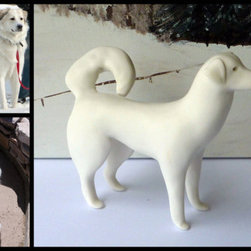 Custom Pet Portrait Your Dog As Porcelain Dog by Mud Pups - Why just have a two-dimensional likeness of your pet? If you're a serious animal lover, then a collection of animal ornaments would be pretty awesome.
