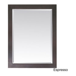 None - Avanity Modero 28-inch Mirror in Espresso Finish - The Modero 28x32-inch poplar wood framed mirror features either an espresso or white finish with a simple clean design. It matches the Modero vanities for a coordinated look and includes mounting hardware that makes leveling easy.