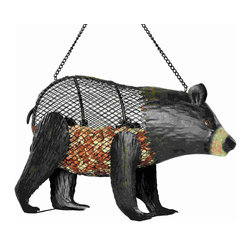 Outside Inside - Brown Bear Mesh Birdfeeder - Brown Bear Mesh Birdfeeder. Made of metal.