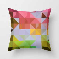 Kaleidoscope Pillow Cover in Citrus - Don't you love the unfolding angles of this bold, graphic pillow cover? With a range of fashionable color options, you're sure to find one to light up your favorite chair.
