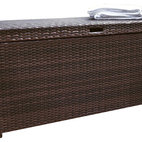 Crosley - Palm Harbor Outdoor Wicker Storage Bin - Dimensions:  54 x 28 x 7 inches