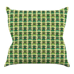 """Kess InHouse - Holly Helgeson """"Vintage Telephone"""" Green Pattern Throw Pillow (18"""" x 18"""") - Rest among the art you love. Transform your hang out room into a hip gallery, that's also comfortable. With this pillow you can create an environment that reflects your unique style. It's amazing what a throw pillow can do to complete a room. (Kess InHouse is not responsible for pillow fighting that may occur as the result of creative stimulation)."""