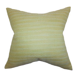 "The Pillow Collection - Zebulun Woven Pillow Green 18"" x 18"" - Bright and plush, this square pillow is a great addition to your living space. This gorgeous decor piece features a subtle design and a green hue. This toss pillow easily blends with solids and other patterns like geometric, ikat, chevron and more. Proudly made in the USA and constructed using a blend of 64% rayon and 36% polyester."