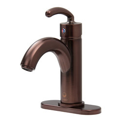 """Vigo - Single Lever Bathroom Faucet - Oil Rubbed Bronze Finish with Drain Assembly - Be ahead of the rest with this unusual arc-shaped, oil rubbed bronze VIGO faucet.; Modern single lever for water and temperature control; Solid brass construction and Oil Rubbed Bronze finish ensures durability and longer life; VIGO finishes resist corrosion and tarnishing, exceeding industry durability standards; Mineral-resistant nozzle is easy-to-clean; High-quality ceramic disc cartridge ensures maintenance free use; Features easy single-hole installation; Water pressure tested for industry standard; 2.2 GPM flow rate; All mounting hardware and hot/cold waterlines included; Standard US plumbing 3/8"""" connections; Lift Rod Drain Assembly is included; Faucet Height: 8""""; Spout Height: 4""""; Spout Reach: 5 1/4""""; Standard 1 3/8""""Diameter opening is required; This VIGO faucet is cUPC and NSF-61 certified by IAPMO; ADA Compliant; Limited Lifetime Warranty; Deck Plate; Oil Rubbed Bronze finished Solid Brass Construction; For three-hole installations; Mounting hardware is included; Deck Plate has a 1 Year Limited Warranty; *Oil Rubbed Bronze finish is exclusive to VIGO and may not directly match other manufacturer's similarly named finishes; Overall dimensions: 3/8""""H x 5 1/2 W x 2 1/8""""D"""