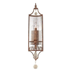 "Murray Feiss - Murray Feiss WB1447MBZ Gianna Scuro 26-1/8"" 1 Light Wall Sconce in Mocha Bronze - Graceful, swooping support arms and hand polished crystal accents are the hallmarks of the Gianna Scuro Collection.Bulb Included: No Bulb Type: Incandescent Collection: Gianna Scuro Extends: 4-5 8 Finish: Mocha Bronze Height: 26-1 8 Light Direction: Up Lighting Material: Steel Max Wattage: 60 Number of Lights: 1 Safety Rating: UL Damp Suggested Room Fit: Foyer, Hallway, Living Room Voltage: 120 Weight: 5.1 Width: 5-1 2 Wire Cord Length: 8"