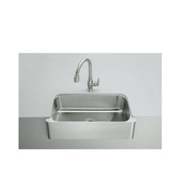 Kohler Verity Apron-Front Under-mount Sink - This is a beautiful undercounter kitchen sink by Kohler.  It is available in stainless steel.  The model is K-3086-NA.