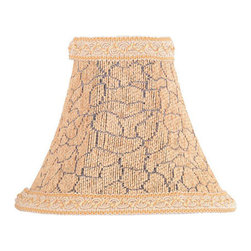 Lite Source - Candelabra Shade/Snake Print Chenille With Trim - 3in.Tx7in.Bx6in.Sl - CANDELABRA SHADE/SNAKE PRINT CHENILLE W. TRIM - 3 in. Tx7 in. Bx6 in. SL