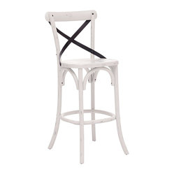 Zuo Union Square White Bar Chair