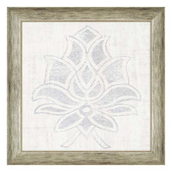 Paragon - Weathered Damask I - Framed Art - Each product is custom made upon order so there might be small variations from the picture displayed. No two pieces are exactly alike.