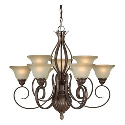 Talista - Talista Chandeliers 9-Light Black Cherry Chandelier with Umber Glass Shade - Shop for Lighting & Ceiling Fans at The Home Depot. The Burton Collection supplied by CLI features a wide variety of classic fixtures. If you are looking for a sensible way to dress up a room there is no better choice than this 9-Light Chandelier in a Black Cherry Finish complimented by Shaded Umber Glass. From the modest chandeliers to the more rustic outdoor lighting the Burton Collection will add a charming accent to any application.