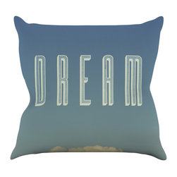"""Kess InHouse - Galaxy Eyes """"Dream Print"""" Throw Pillow (16"""" x 16"""") - Rest among the art you love. Transform your hang out room into a hip gallery, that's also comfortable. With this pillow you can create an environment that reflects your unique style. It's amazing what a throw pillow can do to complete a room. (Kess InHouse is not responsible for pillow fighting that may occur as the result of creative stimulation)."""