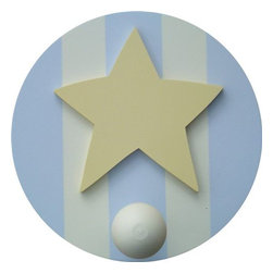 Wish Upon A Star - On Sale Blue & Brown Star Wall Peg - Set of Two - On Sale Blue & Brown Star Wall Peg - Set of Two