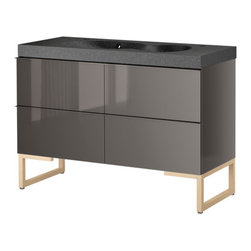 IKEA of Sweden/Francis Cayouette/Eva Lilja Löwenhielm - GODMORGON/BREDVIKEN Sink cabinet with 4 drawers - Sink cabinet with 4 drawers, gray, birch