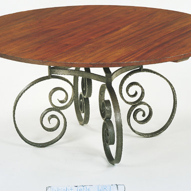 No. 660 WR-1 Custom Dining Table Round WR-1 French Scroll Base - No. 660 WR-1 Custom Dining Table Round WR-1 French Scroll Base. Made to order.