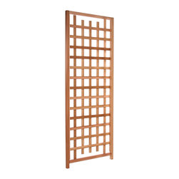 All Things Cedar - Cedar Trellis Panel - Creates an ideal framework for your vines to climb. Can be mounted almost anywhere. Item is made to order.