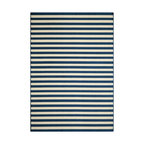 Momeni - Baja Collection Navy - BAJ-1 - Rugs by Momeni - Bold and exciting colors patterns allow trend-conscious customers to create their ultimate indoor/outdoor oasis.  Baja thrives on simple graphic patterns with a refreshing twist of runway fashion and lively color palettes.  Machine-made in Egypt of 100% polypropylene and approved for use outdoors.