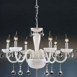 Milan Modern White Crystal Chandelier - http://www.phxlightingshop.com/index.php?main_page=advanced_search_result&search_in_description=1&keyword=9390